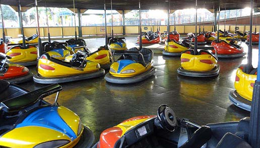 Group of bumper cars